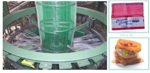 PP/PE leno mesh bag making machine for fruits and vegetables