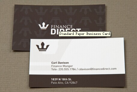 Standard Paper Business Card