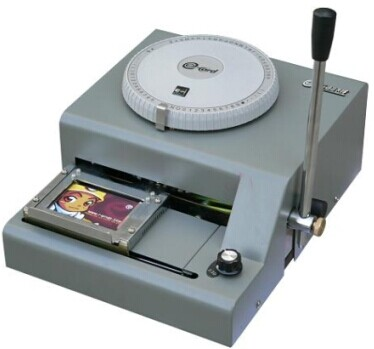 Plastic Card Embossing Machine