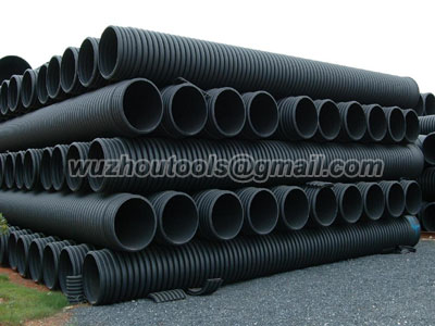HDPE Water Pressure Pipe used in the municipal & industrial markets.