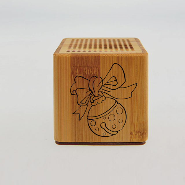 HaiRong bamboo protable mini wireless bluetooth speaker
