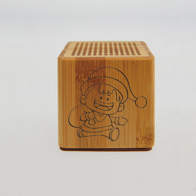 HaiRong bamboo mini bluetooth speaker
