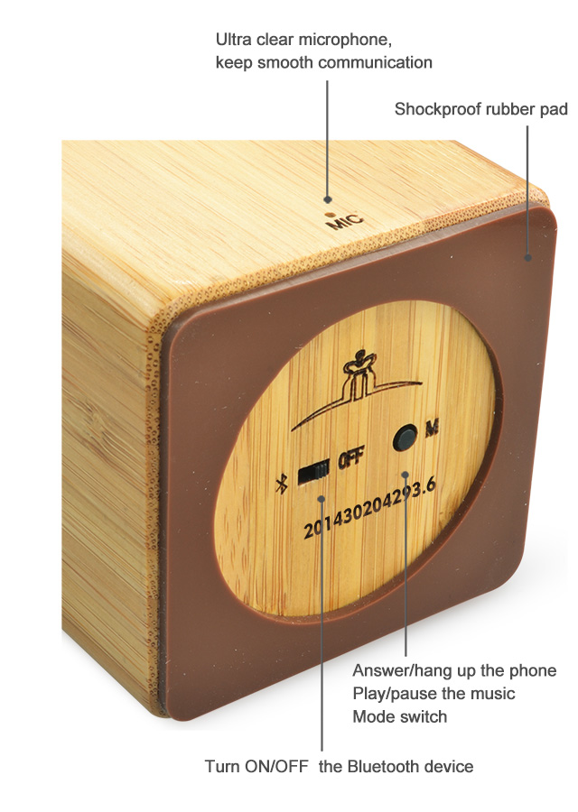 Hairong 2015 music cube rechargeable bluetooth mini portable speaker
