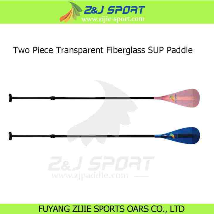 2 Piece Adjustable Transparent Fiberglass Stand Up Paddle