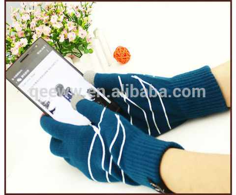 Printed 5 Finegrs Touch Screen Gloves