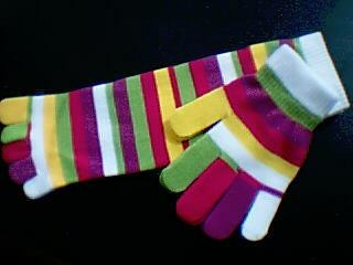 Striped Gloves And Socks