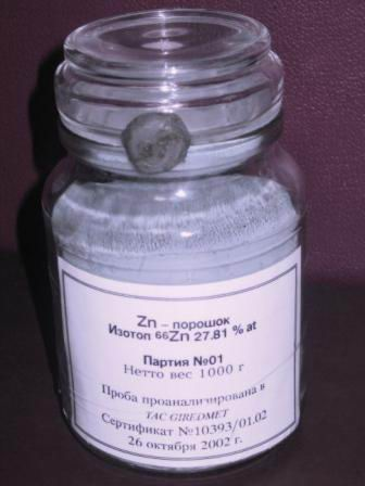 Isotope Zinc 66