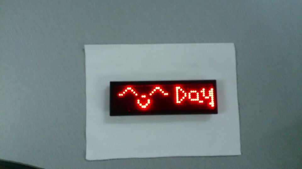 P1.8 red color led badge/nametag