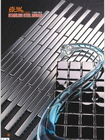 MI11 chinese mosaics strip metal tiles prices mosaic factory