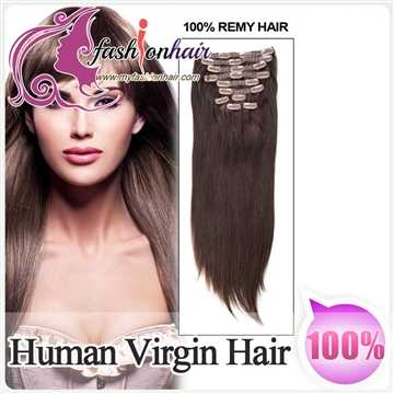 100% Brazilian Human Virgin Hair Extensions Silk Straight