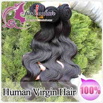 100% Indian Virgin Human Hair Weave Body Wave Weft