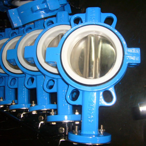 PTFE Seat Butterfly Valves, Split, SS316 Trim