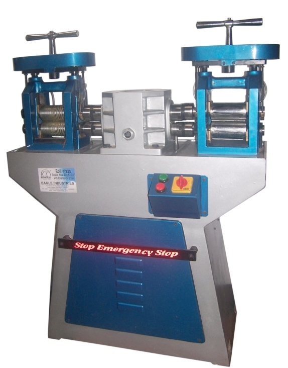 Roll press double hend with emergency break & automatic lubrication system