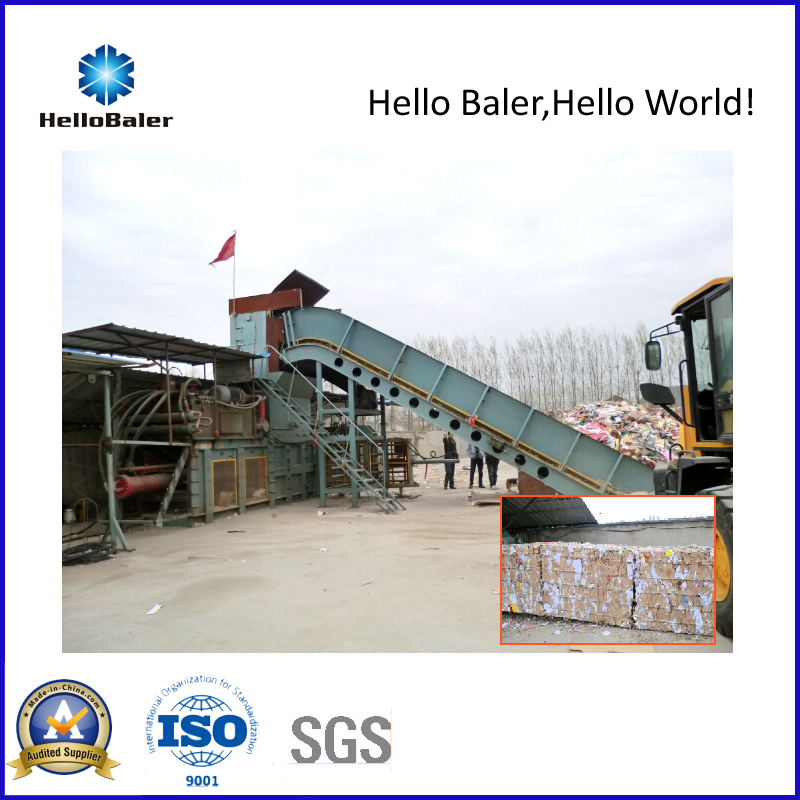 Semi-Automatic Waste Paper Balers with Conveyor (HSA7-10)