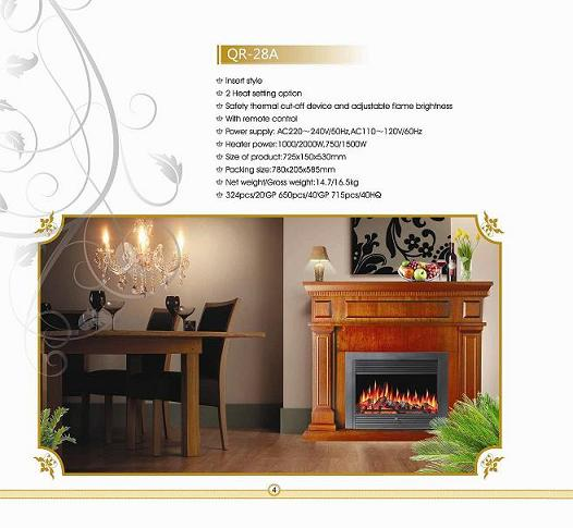 Electric fireplace QR-28A