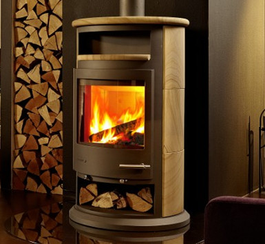 Wood burning stove / steel sheet stove KH003