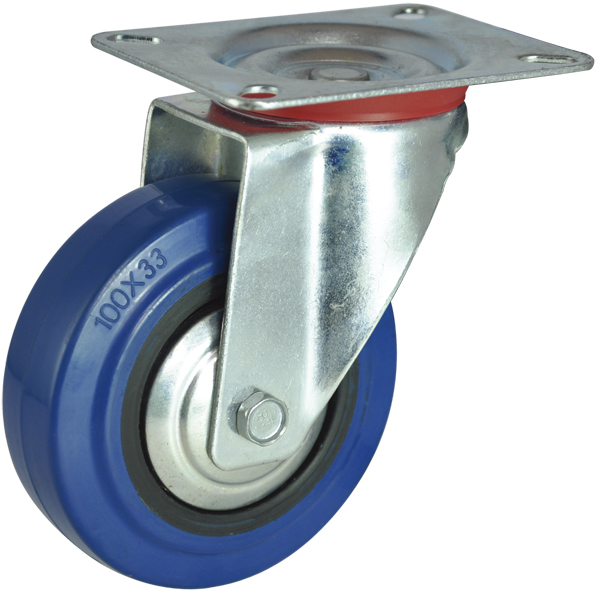 4 inch swivel caster wheels,roller wheel,elastic rubber wheel