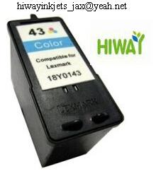 Lexmark43 colour remanufacture ink cartridge