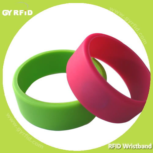 NFC Wristbands with NTAG203, NTAG213, NTAG216 chips WRS12(GYRFID)