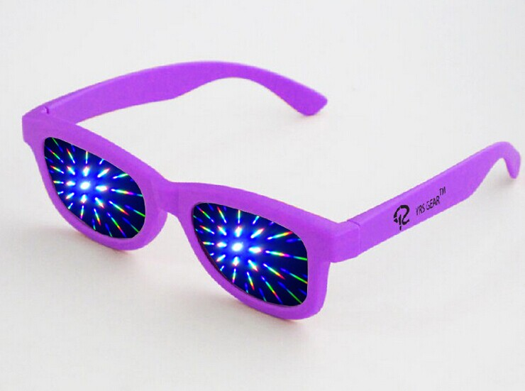 Cheap plastic diffraction glasses fireworks glasses