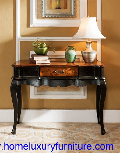 Console table wood console table with mirror Italian style antique wall table JY-946