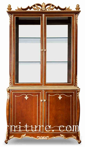 Antique china cabinet american craftsman china cabinet wooden china cabinet FJ-138