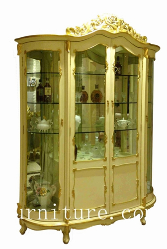 Wood china cabinet white corner china cabinet wall china cabinet glass cabinet FJ-108A