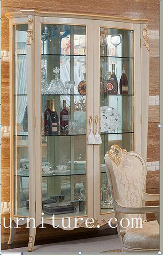 china cabinet displays china cabinet for sell antique bowed china cabinet FJ-101A