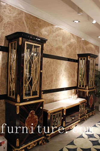 French antique cabinet china cabinet luxury cabinet living room decoration cabinet TP-025A