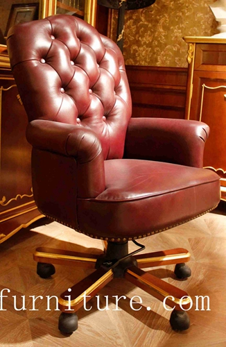 Leather Chair Home Office Moving Anqitue Chairs Fs 168