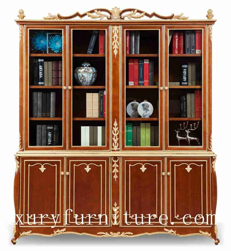 Book cases Book cabinet solid wood book shelf chia supplier Italy Style FBS-138