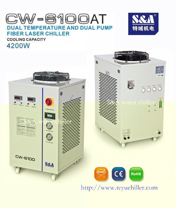 Industrial water chiller for 500W fiber laser CW-6100AT