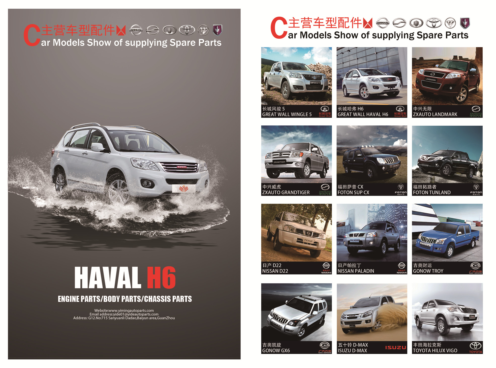Great wall , ZXauto , Dadi ,Gonow ( SUV CUV PICKUP) auto parts