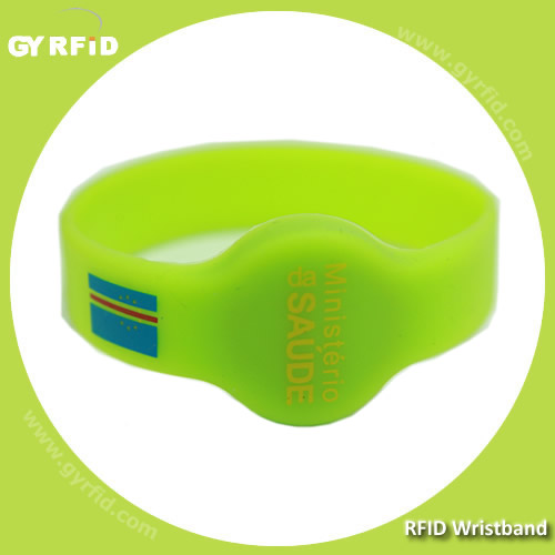 RFID Silicon Wristband with EM,T5577,Mifare chip with children and adult size (GYRFID)