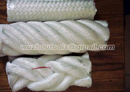 Braided rope for boat fittings,braided rope in hank packing