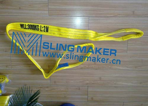 High quality WLL3ton 3000kg Polyester webbing sling flat web sling band 6:1 7:1 8:1