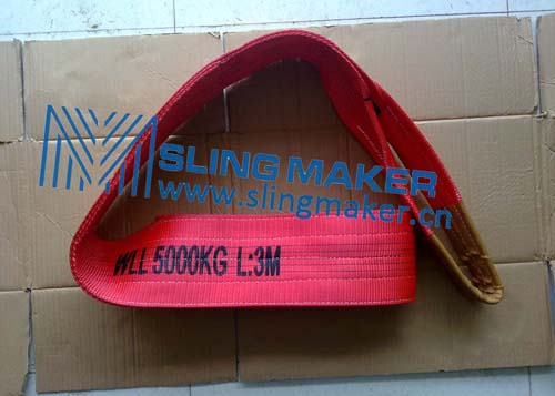High quality WLL5ton 5000kg Polyester webbing sling flat web sling band 6:1 7:1 8:1
