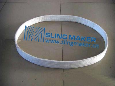 High quality one way used one time used steel pipe lifting Polyester webbing sling
