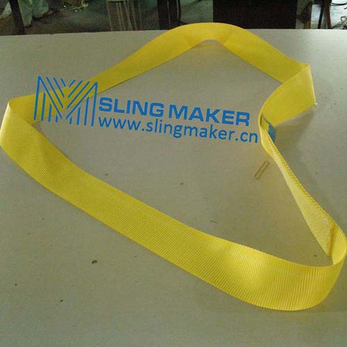 High quality endless Polyester webbing sling lifting belt synthetic lifting sling lifting band hebeband