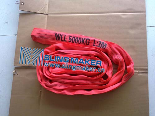 High quality WLL5ton 5000kg endless eye-eye round sling 6:1 7:1 8:1