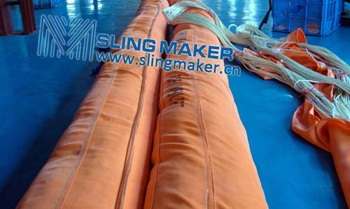 High quality WLL200ton 200000kg heavy duty round sling 6:1 7:1 8:1