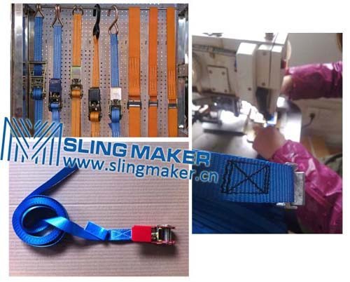 High quality 25mm ratchet lashing strap tie down web lashing  acc.to European standard