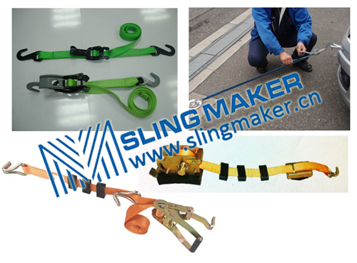 High quality vehicle lashing straps car lashing ro-ro ship lashing  acc.to European standard