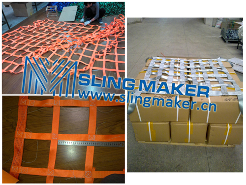 High quality webbing cargo net lifting net cargo holding cargo secure cargo control acc.to European standard