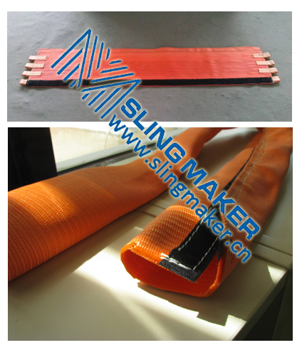 High quality PES pad and webbing sleeve tubular for mooring rope protector acc.to European standard
