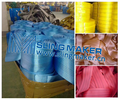 High quality webbing material for slings webbing sling flat sling band straps acc.to European standard