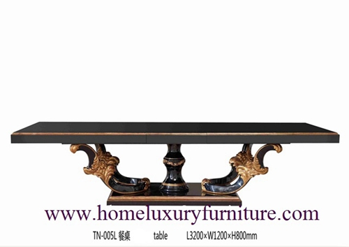 Large table dining table solid dining table antique dining table 8 black dining table  TN-005L