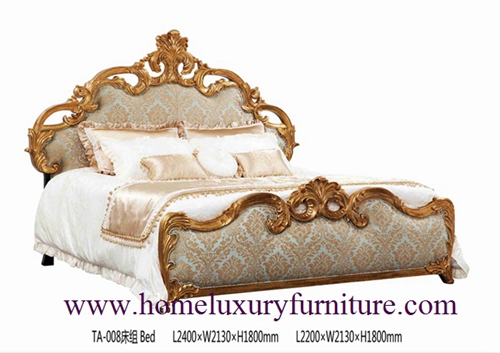 King Beds royal luxury bed solid wood bed supplier Italy style Europe classic bed TA-008