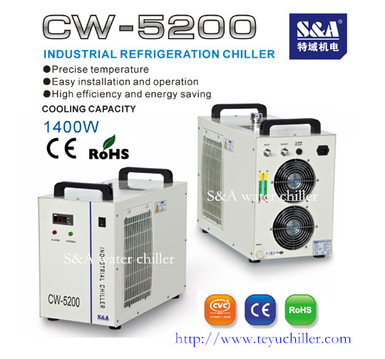 Compact water cooler for UV LED system S&A CW-5200