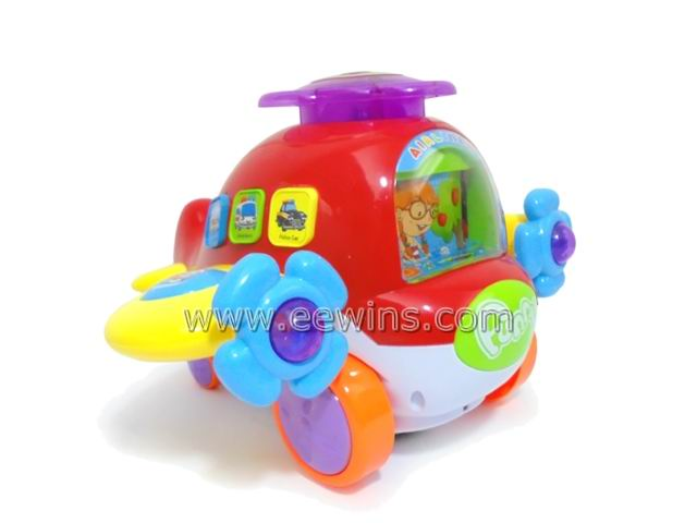 Educational learning toys plane with electronic quiz game